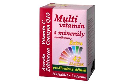 MEDPHARMA Multivitamín s minerály + extra vitamín C 107 tablet