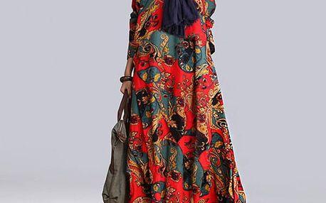 Vintage podzimní šaty - 4 barevné varianty