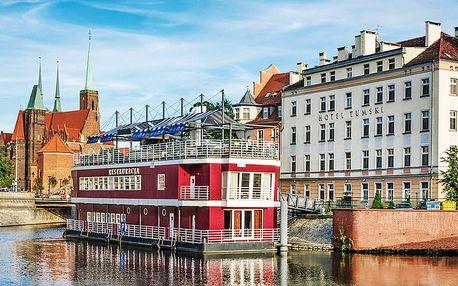 Historická Wroclaw v hotelu na ostrově v centru s polopenzí – se vstupem do ZOO nebo prohlídkou města