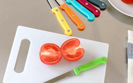 Set Nožů s Prkénkem Barvy 7 dílů
