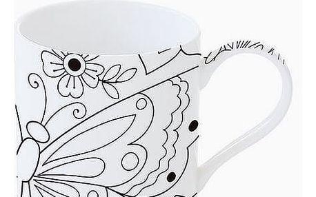 Cup Porcelán Černý Bílý - Kitchens Deco Kolekce by Bravissima Kitchen