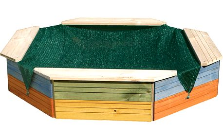 WOODY Pískoviště dřevěné - barevné