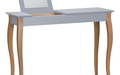 Tmavě šedý toaletní stolek se zrcadlem Ragaba Dressing Table,délka105cm