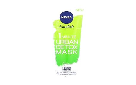 Nivea Essentials 1 Minute Urban Detox Mask 75 ml pleťová maska W