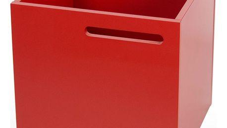 Červený úložný box ke knihovně TemaHome Berlin