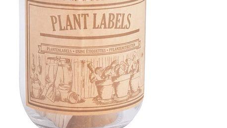 Set sklenice a 40 štítků na bylinky z topolového dřeva Esschert Design Heal