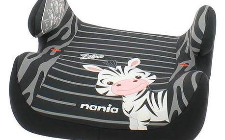Nania TOPO Comfort Zebra 2017, 15-36kg černá/šedá