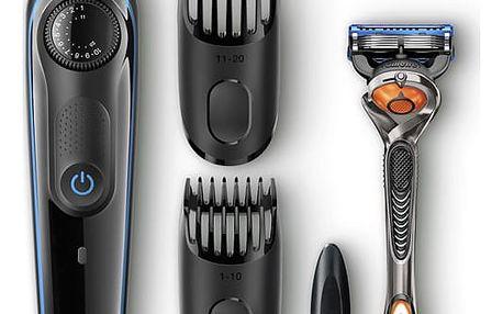 Zastřihovač vousů Braun BT3040 černý/modrý
