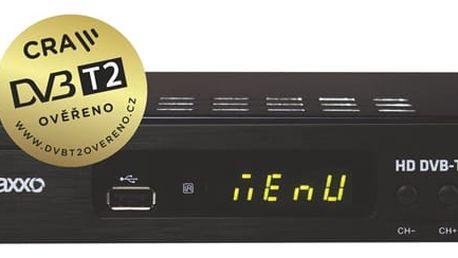 DVB-T2 přijímač Maxxo T2 HEVC/H.265 černý