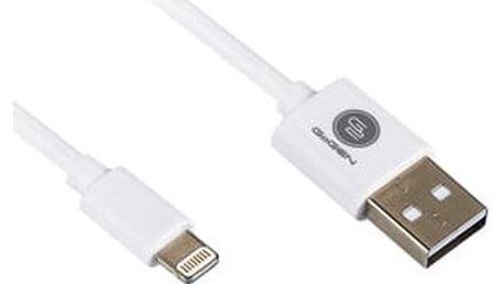 Kabel GoGEN USB/Lightning, 0,9m (LIGHTN 100 MM01) bílý