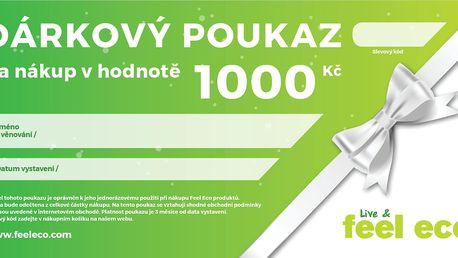 Feel Eco Dárkový poukaz v hodnotě 1000 Kč