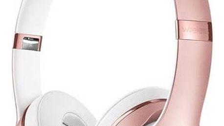 Beats Solo3 Wireless On-Ear - růžově zlaté (MNET2ZM/A) růžová
