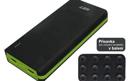 Powerbank iGET POWER B 20000mAh (B-20000) černá/zelená