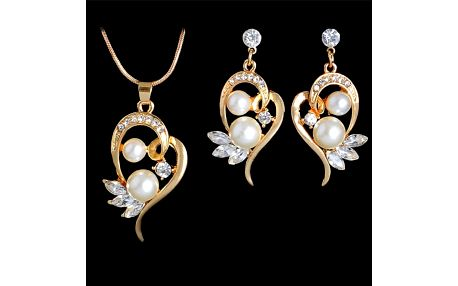 Set šperků s perličkami a kamínky