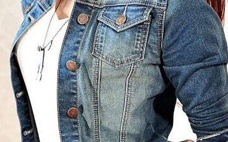 Krátká džínová bunda