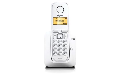 Domácí telefon Siemens Gigaset A120 bílý (S30852-H2401-R602)