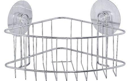 Samodržící rohová polička do sprchy Wenko Static-Loc