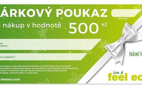 Feel Eco Dárkový poukaz v hodnotě 500 Kč