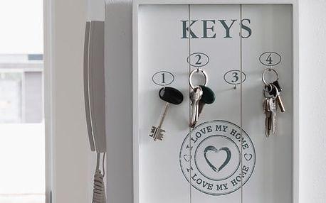 Věšák na Klíče I Love My Home Homania