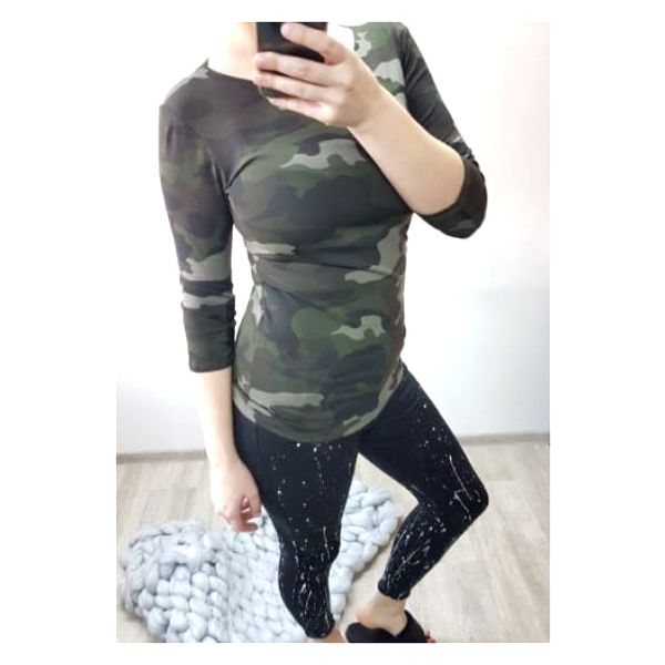 Dámské basic tričko Army