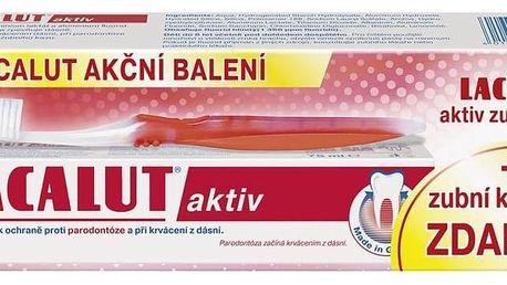 Lacalut Aktiv zubní pasta + zubní kartáček 75 ml + 1 ks
