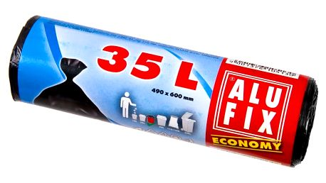 Alufix Economy odpadkové pytle černé, 35 l 30 ks