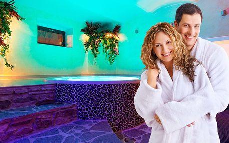 90 minut soukromí a romantiky v privátním wellness