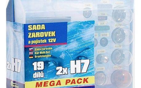 Autožárovka Compass 12 V servisní box MEGA H7+H7+pojistky