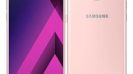 Mobilní telefon Samsung A5 (2017) (SM-A520FZIAETL) růžový Software F-Secure SAFE, 3 zařízení / 6 měsíců v hodnotě 979 Kč + DOPRAVA ZDARMA