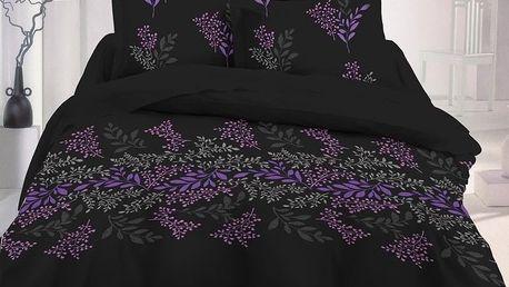 Kvalitex Saténové povlečení Victoria černá Luxury Collection, 220 x 200 cm, 2 ks 70 x 90 cm
