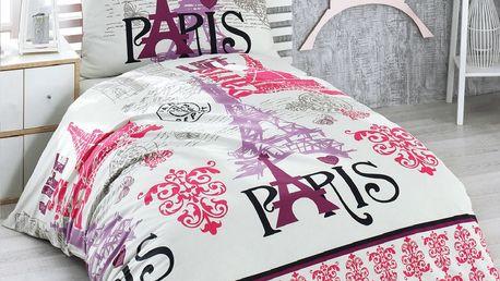 Night in Colours Bavlněné povlečení Paris, 140 x 200 cm, 70 x 90 cm