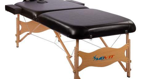 MOVIT DELUXE 1646 Přenosné masážní lehátko černé 185 x 80 cm