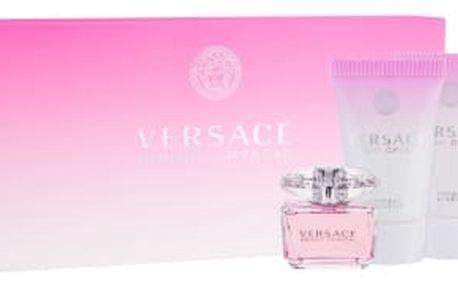 Versace Bright Crystal dárková kazeta pro ženy toaletní voda 5 ml + tělové mléko 25 ml + sprchový gel 25 ml