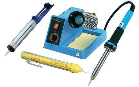 Set (Pájecí stanice CNR Basetech ZD-99) + (Příslušenství CNR Basetech tužka s pájecím drátem) + (Odsavač cínu CNR TOOLCRAFT ZD-190)
