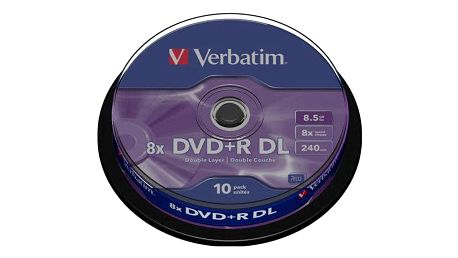 Disk Verbatim DVD+R DualLayer, 8.5GB, 8x, 10-cake (43666)