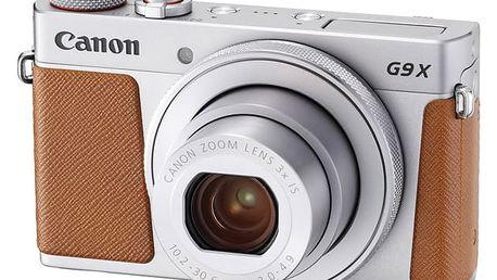 Digitální fotoaparát Canon PowerShot G9 X Mark II Silver (1718C002) stříbrný Paměťová karta Kingston SDXC 64GB UHS-I U1 (90R/45W) v hodnotě 999 Kč + DOPRAVA ZDARMA
