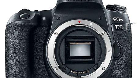 Digitální fotoaparát Canon 77D (1892C003AA) černý Paměťová karta Kingston SDXC 64GB UHS-I U1 (90R/45W) v hodnotě 999 Kč + DOPRAVA ZDARMA