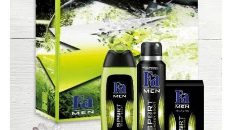 FA Men Sport Energy Boost Premium Dárková sada sprchový gel 250 ml+ deodorant 150 ml + voda po holení 100 ml