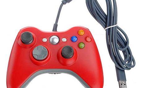 Ovladač pro Microsoft Xbox 360 červený / modrý