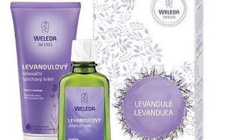Weleda relaxační Levandule sprchový krém 200 ml + zklidňující olej 100 ml dárková sada