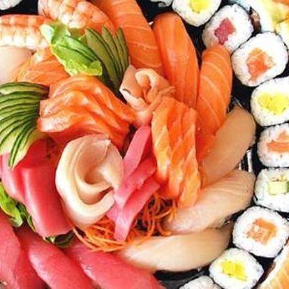 Kupon na slevu na Running Sushi v restauraci Fuji. Sushi, saláty, ovoce, dezerty aj.