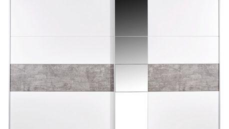 Skříň s posuvnými dveřmi korbach, 261/210/59 cm