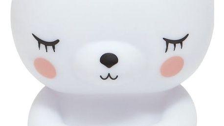 PETIT MONKEY Noční LED lampička Polar bear, bílá barva, plast
