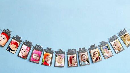 Rámečky na fotky z 1. roku miminka