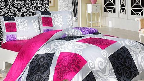 Bedtex bavlněné povlečení Sedef Růžové, 220 x 200 cm, 2 ks 70 x 90 cm