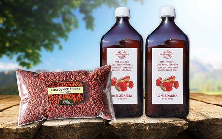 Zázračné Goji: 100% přírodní šťáva i sušené plody