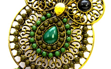 Fashion Icon Brož sovička etno styl