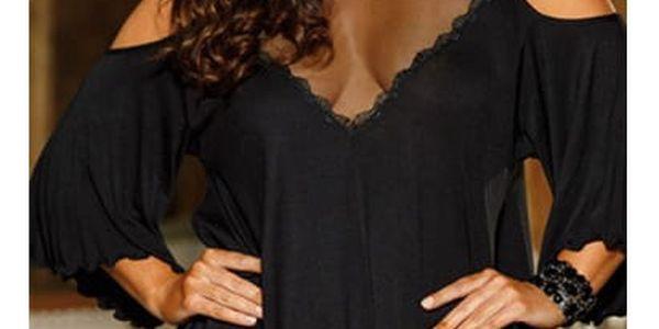 Elegantní plus size košilka