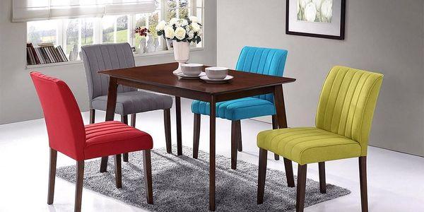 Jídelní čalouněná židle RAINBOW šedá2