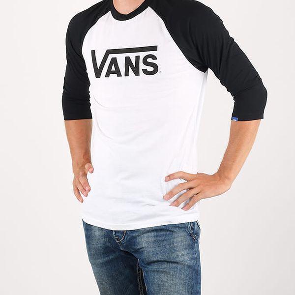 Tričko Vans Mn Classic Ragl White-Black Bílá